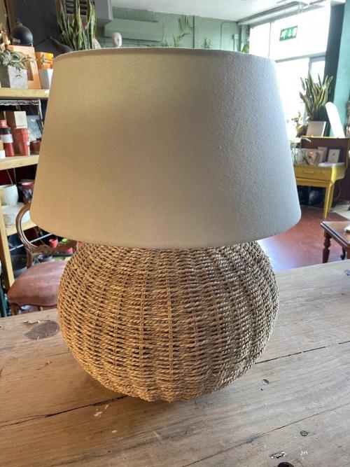 Wicker Base Lamp