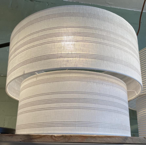 Serenity Linen Two Tier Lamp Shade