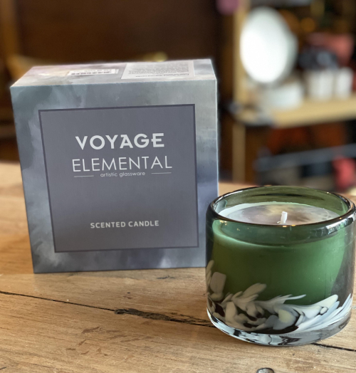 Voyage Blown Glass Candle