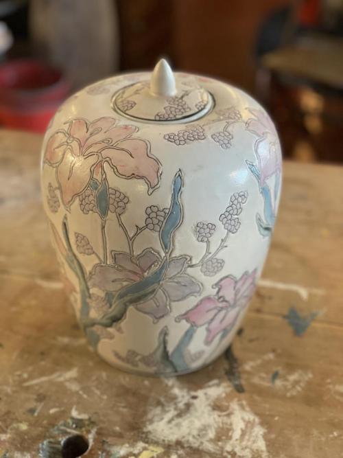 Pastel Floral Urn