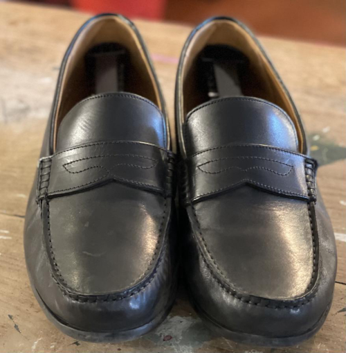 Black Formal Clarks Slip-On Shoes