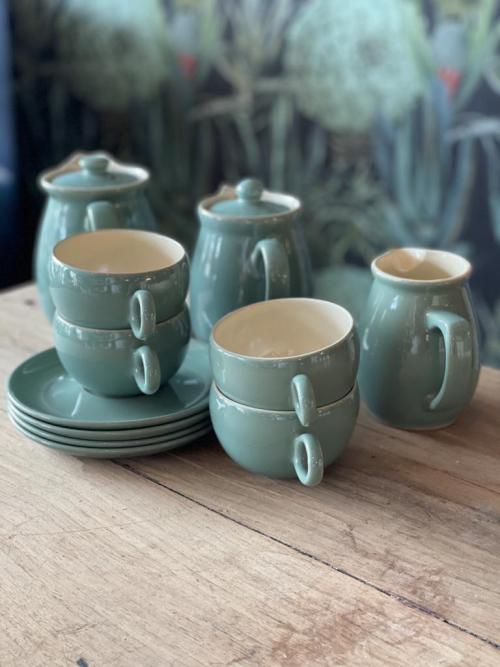 11-Piece Denby Tea Set