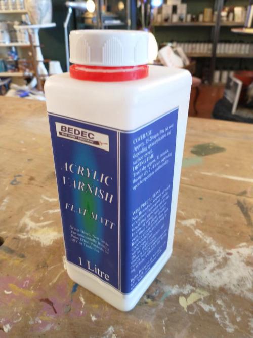 Acrylic Varnish Clear Flat Matt 1 Litre