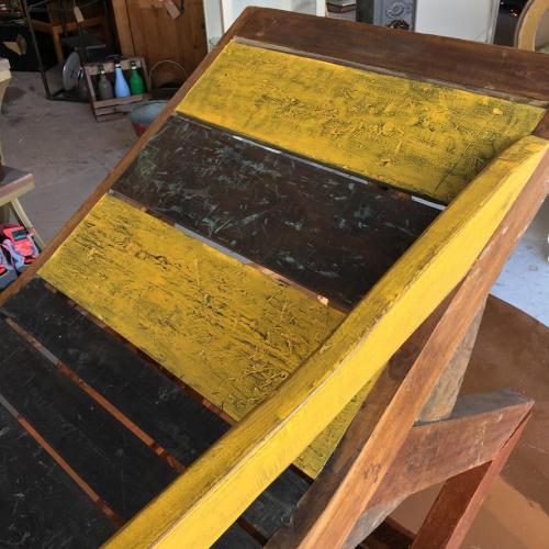wooden recliner