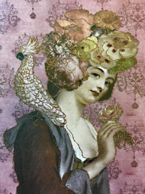 A5 Flower Lady CARD28