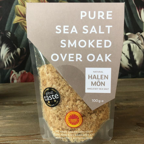 Halen Mon Pure Sea Salt Smoked Over Oak 100g