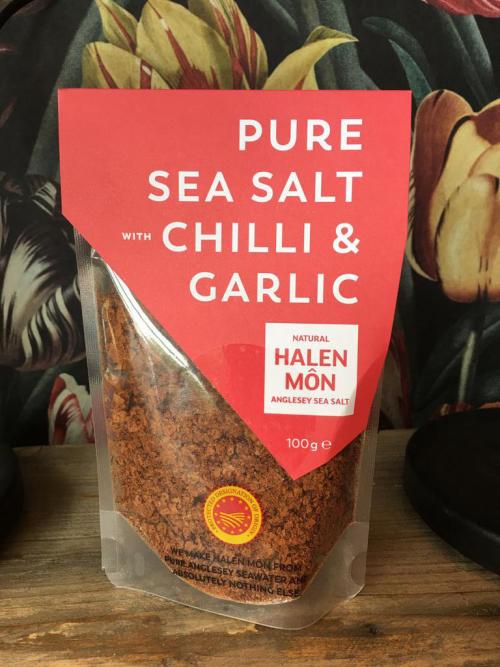 Halen Mon Chilli & Garlic  Sea Salt