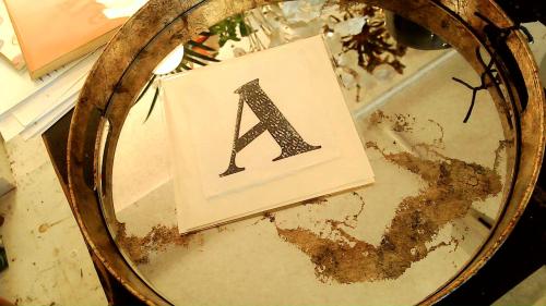 Letter Press Card