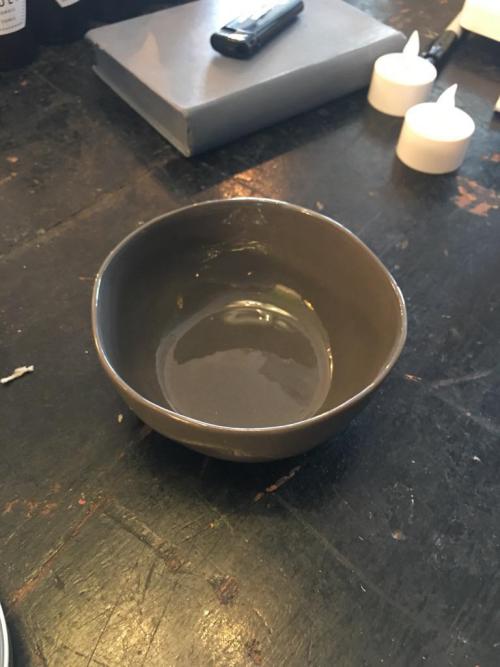 Quail's Egg Ceramic Large Dipping Bowl Charcoal
