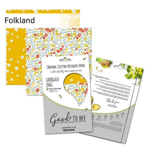 GoodToBee  Organic Cotton Beeswax Bags Folkland