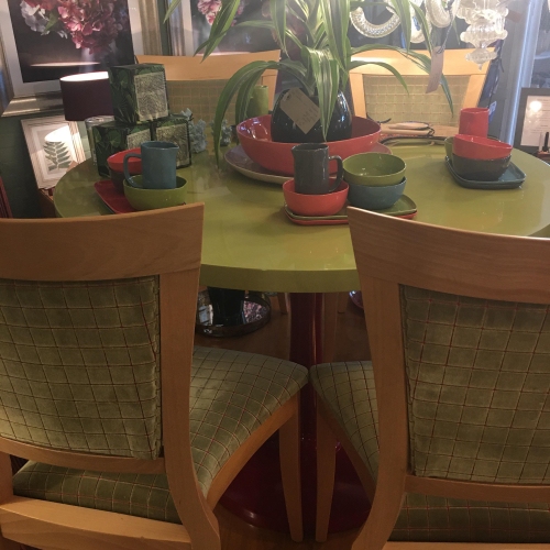 Green/Red Retro dining Table