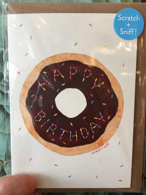 Scratch & Sniff Doughnut Card