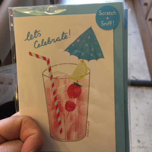 Scratch 'n' Sniff Cocktail Drink