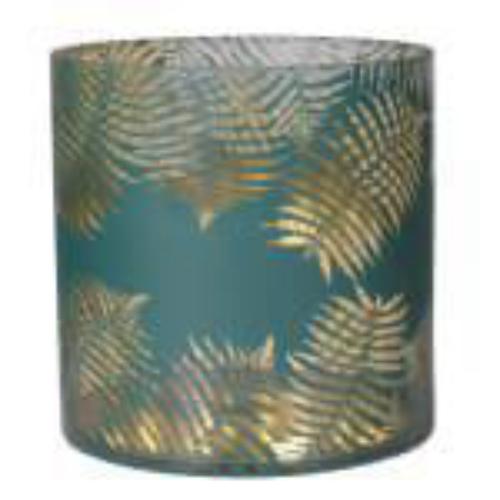 Gold and Green Tea Light Holder Large