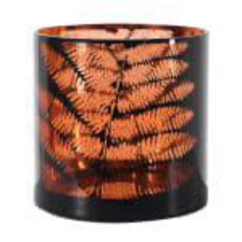 Black and Copper Tealight Holder Large