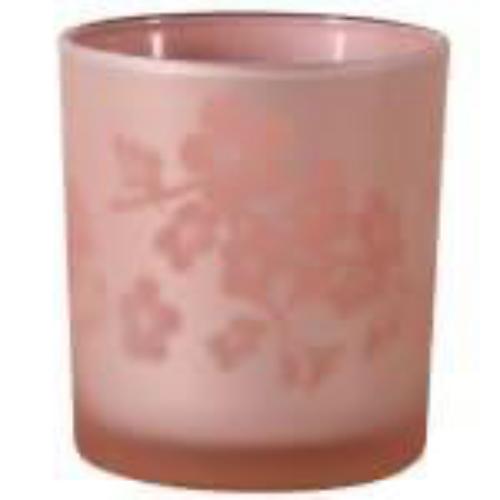 Pink Floral Tealight Holder