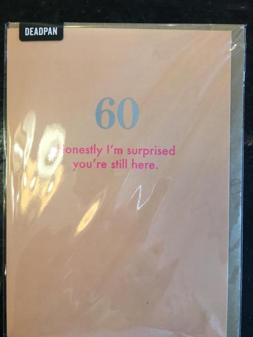 60 Honestly i'm suprised..