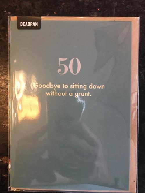 50 Goodbye to sitting..