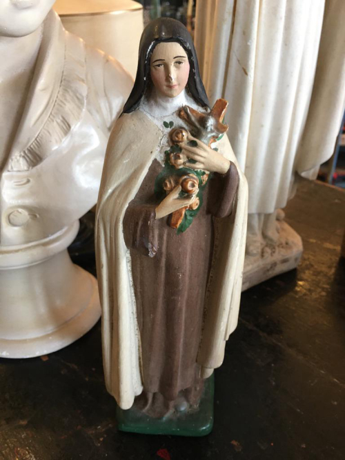 c.1940 Small French Painted St Theresa