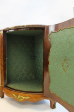 PAIR OF FRENCH PARQUETRY CORNER CABINETS, 19TH CENTURY
