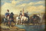 PAIR OF ORIENTAL PAINTINGS, OIL ON BOARD BY RICHARD WILSON