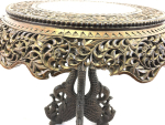 ANTIQUE ANGLO-INDIAN CARVED ROSEWOOD CENTRE TABLE, 19TH CENTURY
