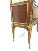 LOUIS XVI STYLE DISPLAY CABINET WITH ORMOLU MOUNTS, MAISON KRIEGER, FRANCE, 19TH CENTURY