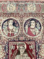 Antique Pictorial Kerman Raver