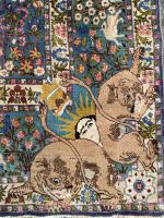 Antique TABRIZ Carpet depicting Ahmad shah