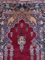 Antique Persian Tehran rug