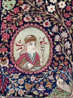 A Fine Pictorial Kirman Rug, South Persia
