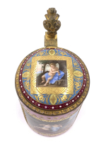 19th Century Pink Royal Vienna Tankard With Lid