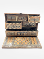 A Nasrid or post-Nasrid wood and Ivory-inlaid Cabinet, Spain, 15th/16th century