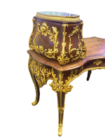 A Fine Antique 19th Century Wood and Bronze inlaid Desk, French or Russian
