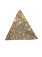 Iznik pottery tile in triangular form, Turkey, late 16th century