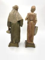 Pair of Royal Vienna Porcelain Figurines Man & Woman