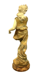 French marble Statue, 19th Century