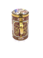 19th Century Signed Royal Vienna Tankard With Lid