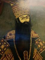 QAJAR PORTRAIT DEPICTS  FATH 'ALI SHAH, IRAN, 19TH CENTURY