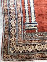 A Fine Antique Silk Heriz Rug