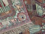 Fine Antique Pictorial Kerman Raver Rug