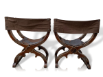 Pair of Spanish Hip-Joint Chairs, 19th Century