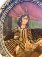 A FINE PORTRAIT OF A LADY, QAJAR IRAN, 19TH CENTURY