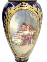 19th century Blue Sevres Style Vases