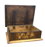 A FINE 17TH CENTURY AND LATER FLORAL MARQUETRY BOX