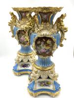 Fine 19th Century Jacob Petit Porcelain Pair of Vases