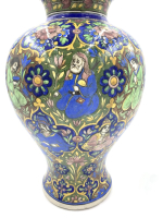 A PAIR OF QAJAR VASES WITH FLORAL DESIGN, IRAN, 19TH CENTURY
