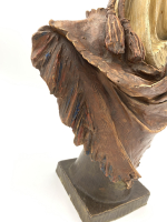 EDUARD STELLMACHER TERRACOTTA BUST OF AN ARAB MAN, LATE 19TH CENTURY