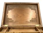 LARGE 19TH CENTURY SANDALWOOD JEWELLERY BOX, SOUTH INDIA