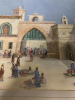 PAIR OF ORIENTALIST WATERCOLOUR PAINTINGS SINGED AND DATED